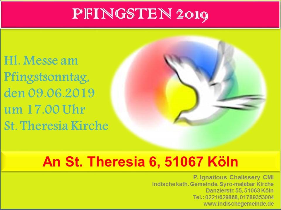 Heilige Messe zu Pfingsten in Köln